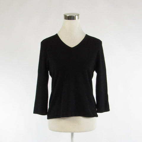 Black SPENSE 3/4 sleeve V-neck sweater S