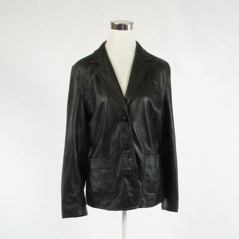 Black 100% leather WILSONS LEATHER Maxima long sleeve motorcycle jacket L-Newish