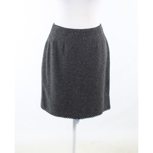 Charcoal gray twill NANETTE LEPORE pencil skirt 8