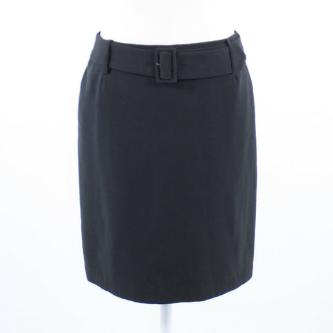 Black J. MCLAUGHLIN belted waist pencil skirt 4