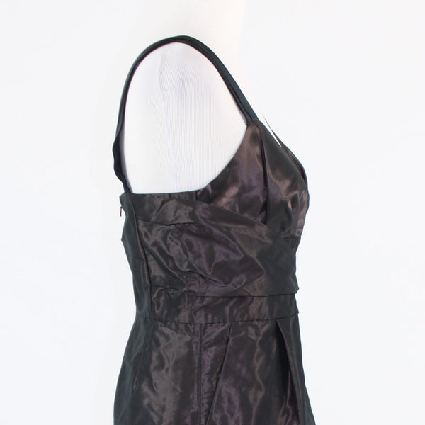 Dark purple shimmery BANANA REPUBLIC sleeveless A-line dress 6