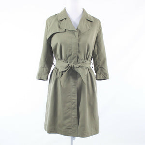 Olive green BANANA REPUBLIC 3/4 sleeve shirt dress 2