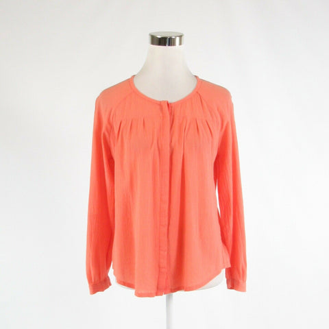 Coral orange 100% cotton JOIE 3/4 sleeve button down blouse XS-Newish