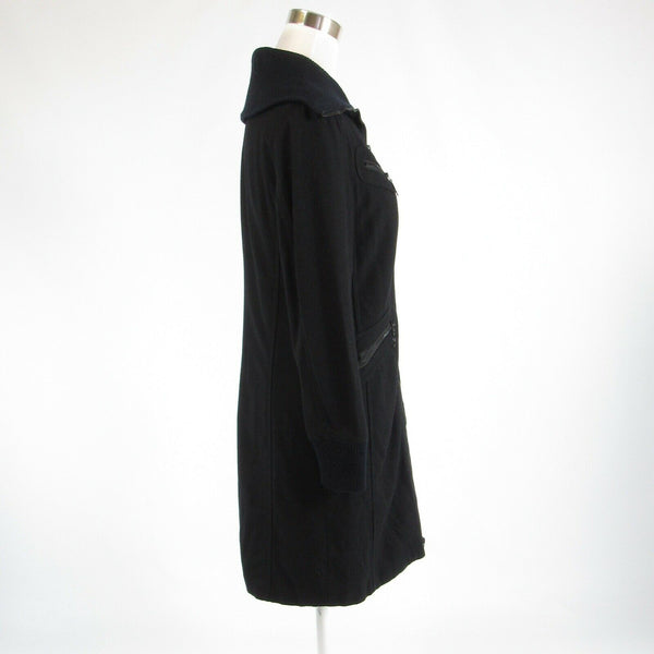 Black wool blend DKNY long sleeve peacoat 0