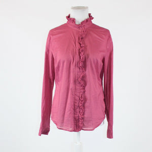 Dark pink 100% cotton NEW YORK and COMPANY long sleeve button down blouse M