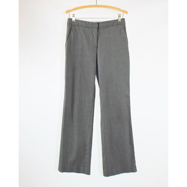 Gray cotton blend TALBOTS heritage wide leg dress pants 6