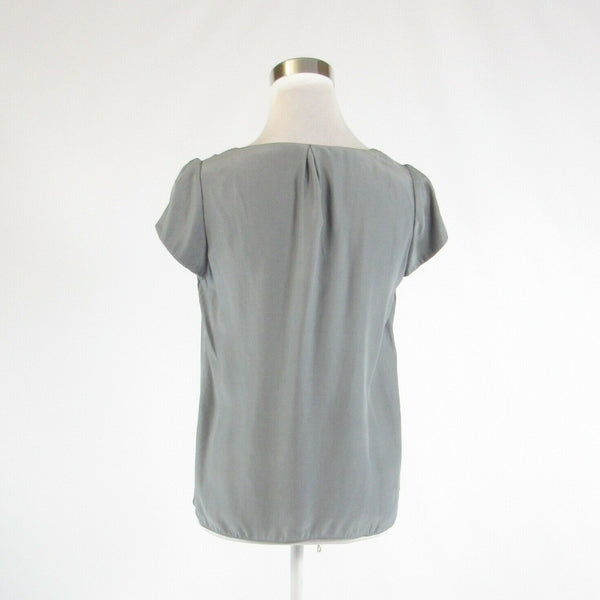 Gray satin BANANA REPUBLIC cap sleeve blouse S-Newish