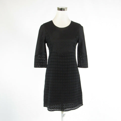 Black eyelet COMPTOIR DES COTONNIERS 3/4 sleeve sheath dress FR36 6-Newish
