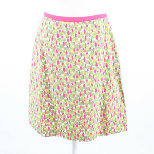 Multicolor floral print 100% cotton BODEN A-line skirt 8-Newish