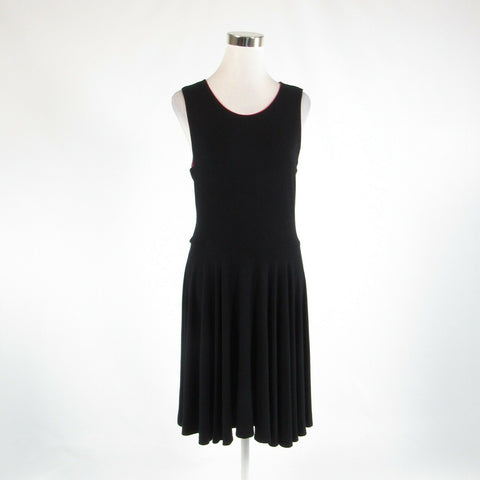 Black CYNTHIA ROWLEY stretch sleeveless A-line dress L-Newish