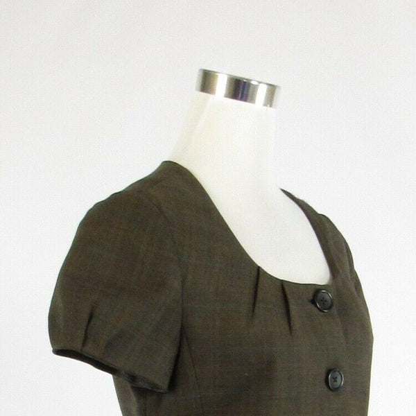Cool brown plaid BANANA REPUBLIC short sleeve jacket 8-Newish