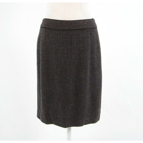 Dark brown tweed ANN TAYLOR pencil skirt 8-Newish