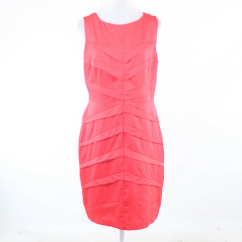 Salmon pink ADRIANNA PAPELL sleeveless sheath dress 14