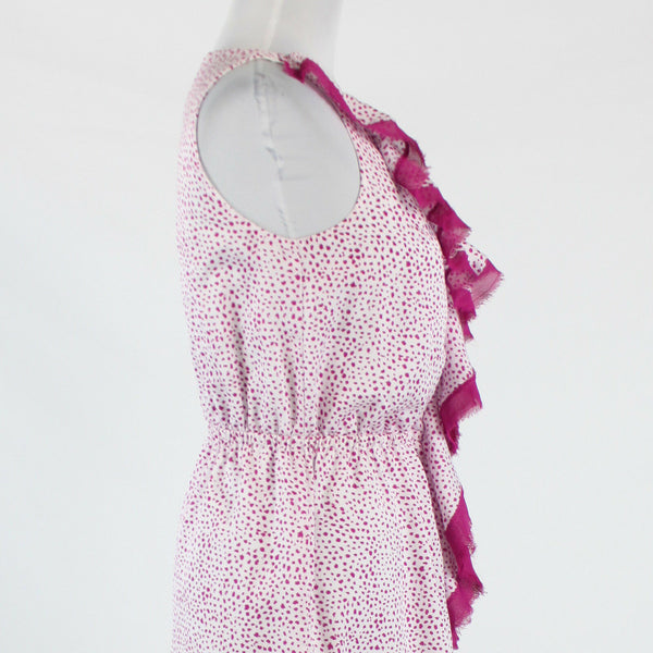 Light pink magenta polka dot ANN TAYLOR LOFT knee-length dress PS