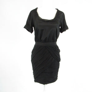 Black DIANE VON FURSTENBERG short sleeve sheath dress 2-Newish