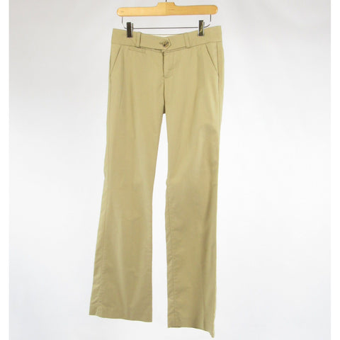 Beige cotton BANANA REPUBLIC bootcut khaki pants 2