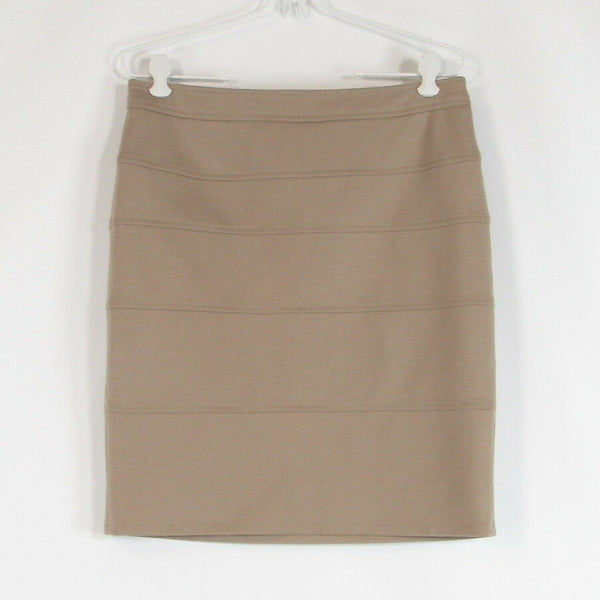 Taupe ADRIENNE VITTADINI stretch pencil skirt 8