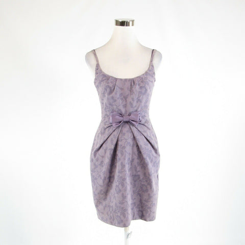 Lavender purple floral print cotton blend BARASCHI sheath dress 2-Newish