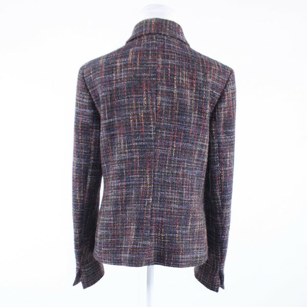 Charcoal gray multicolor space dyed tweed SIF FEMME long sleeve jacket 8-Newish