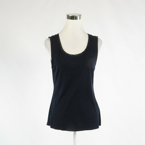 Black BANANA REPUBLIC stretch sleeveless tank top blouse L-Newish