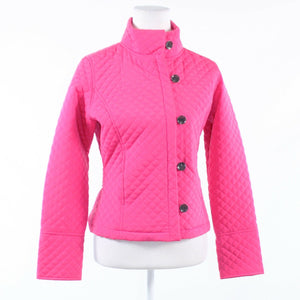 Bright pink diamond quilted CALVIN KLEIN long sleeve puffer coat XS-Newish