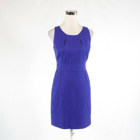 Purple 100% wool J. CREW sleeveless sheath dress 4P-Newish