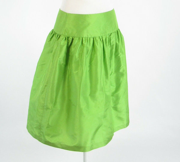 Bright green 100% silk LILLY PULITZER A-line skirt 4-Newish