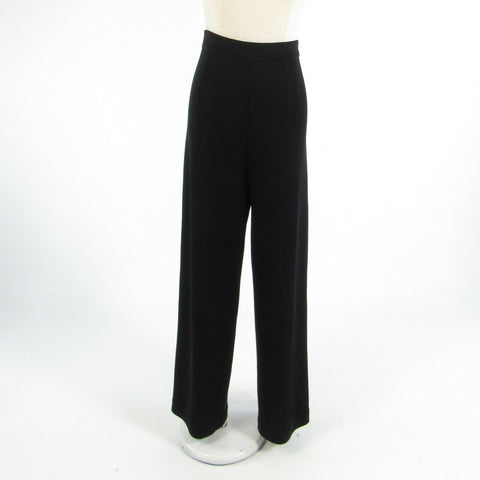 Black EXCLUSIVELY MISOOK stretch relaxed fit pants L