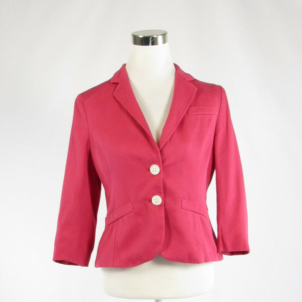Pink 100% cotton ANN TAYLOR 3/4 sleeve jacket 10P