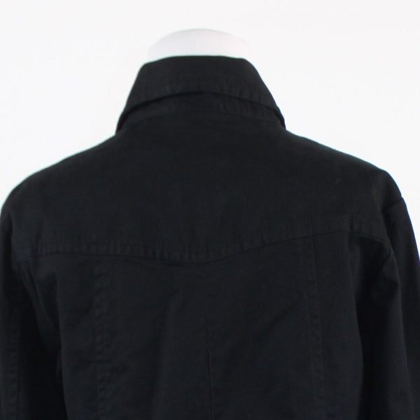 Black cotton blend CHICO'S 3/4 sleeve jacket 1 S 8