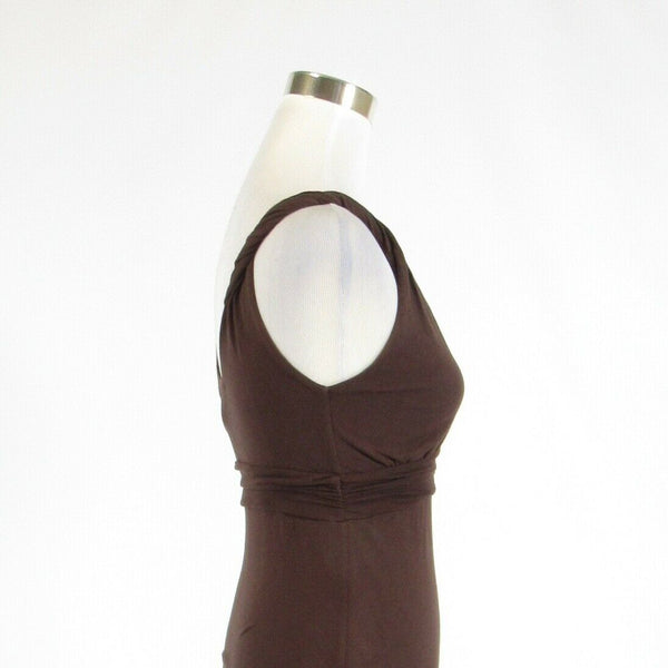 Brown 100% cotton VELVET by Graham and Spencer sleeveless empire waist dress 00P-Newish