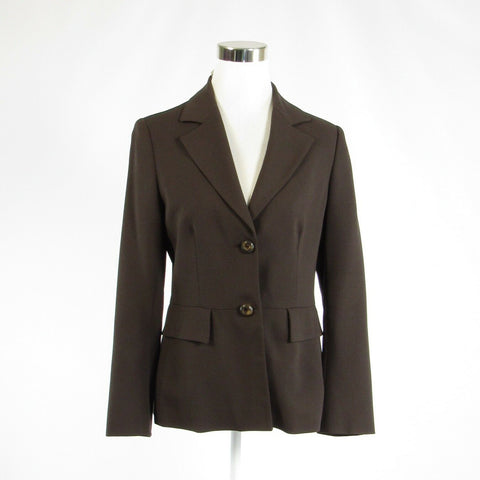 Brown wool blend SALVATORE FERRAGAMO long sleeve jacket IT46 12-Newish