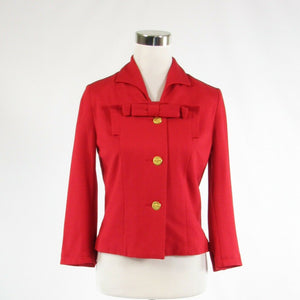 Red CABI Love Carol 3/4 sleeve blazer jacket 2