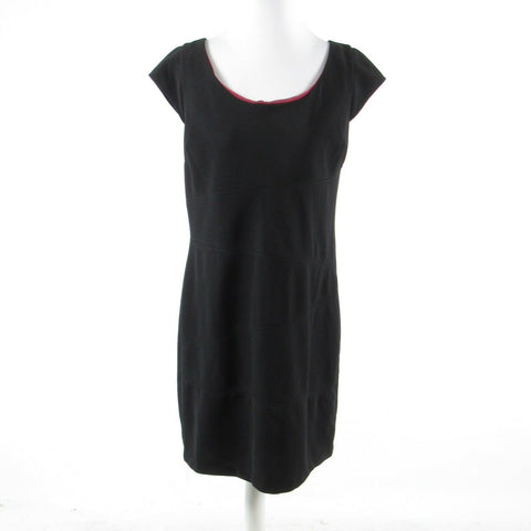 Black ANDREW MARC Marc New York cap sleeve sheath dress 14