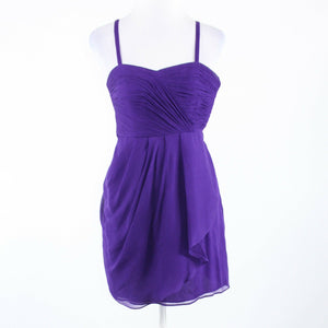 Purple sheer overlay 100% silk J. CREW spaghetti strap sun dress 00-Newish