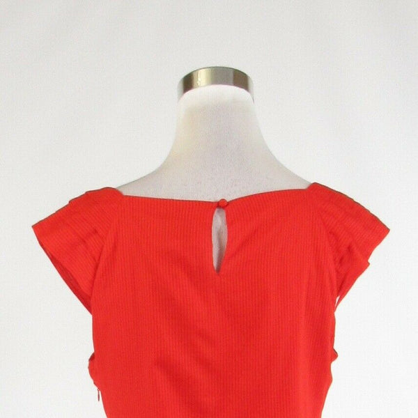 Orange striped 100% cotton BARASCHI sleeveless blouse 12