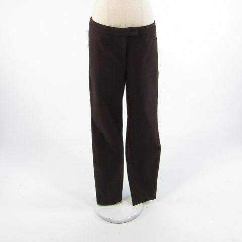Brown cotton blend J. CREW Ryder stretch relaxed fit dress pants 8