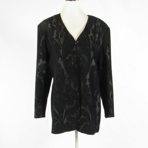Black paisley PETER NYGARD long sleeve jacket 14-Newish