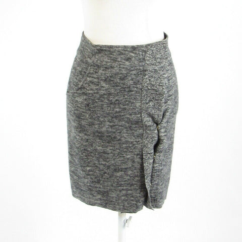 Charcoal gray space dyed SPARROW stretch wrap skirt XS-Newish