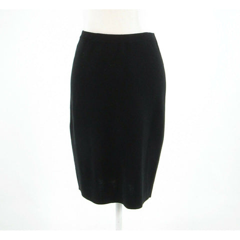 Black silk blend EILEEN FISHER stretch knit skirt PS-Newish