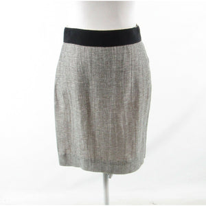 Heather gray black space dyed chambray J. CREW pencil skirt 2