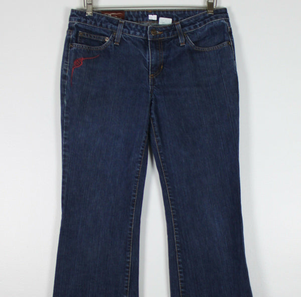 BIG SWAY DENIM dark wash 100% cotton denim straight leg mid-rise jeans 32 12-Newish