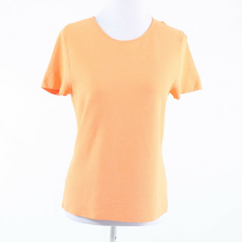 Light orange EILEEN FISHER short sleeve crewneck sweater M-Newish