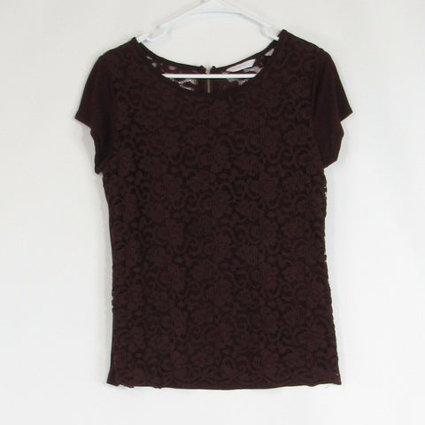 Warm brown NEW YORK and COMPANY knit blouse M