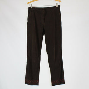Brown 100% cotton ANN TAYLOR corduroy straight leg pants 2