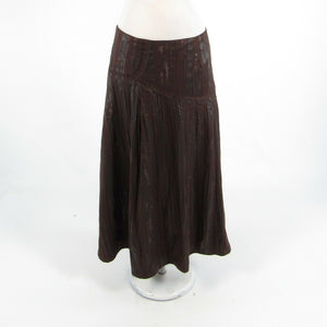 Brown gray abstract LANA LEE peasant skirt S-Newish