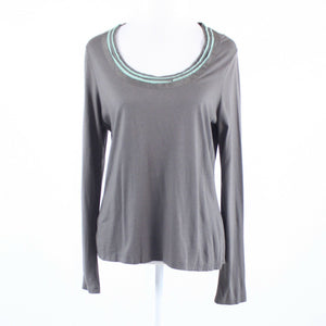 Gray stretch BODEN long sleeve blouse 10-Newish