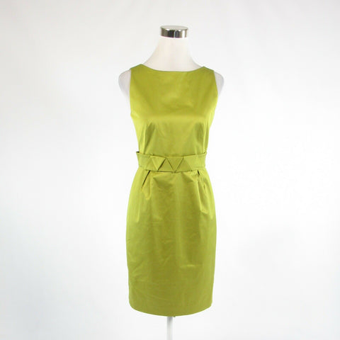 Avocado green cotton blend PAULE KA sleeveless sheath dress IT40 6-Newish