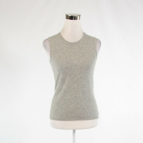 Heather gray 100% cashmere LORD and TAYLOR sleeveless vest sweater S