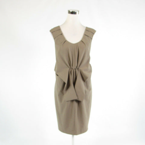 Taupe MAGASCHONI COLLECTION stretch sleeveless sheath dress 6-Newish